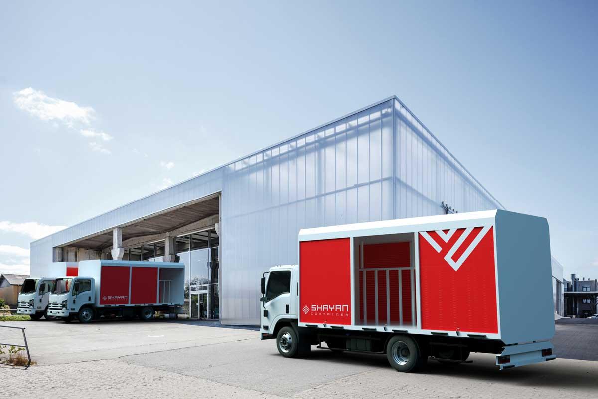 تیغه دار حمل نوشابه و آب معدنی (تک درب) / اتاق کامیون